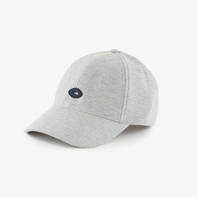 Grey cotton cap with oval badge