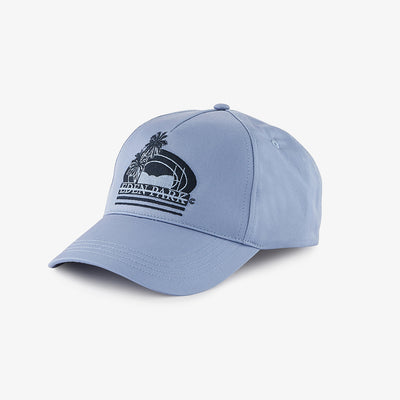 Sky blue cotton cap with embroidery
