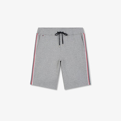 Lightweight grey cotton shorts with side bands