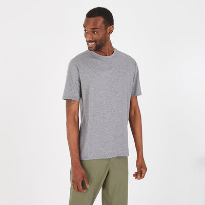 Crew neck lightweight grey pima cotton T-shirt