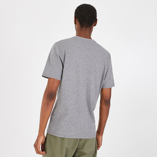 Lightweight V-neck khaki pima cotton T-shirt
