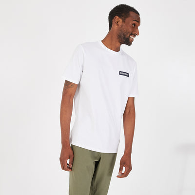 Lightweight print white Pima cotton T-shirt