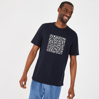 Lightweight navy blue pima cotton T-shirt