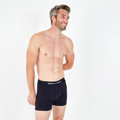 2-pack of red and navy blue stretch cotton boxer shorts
