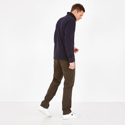 Straight cut grey stretch cotton jeans