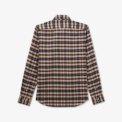 Beige check cotton shirt