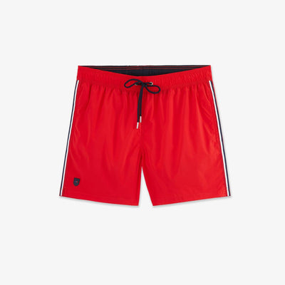 Recycled red parachute fabric swimming trunks