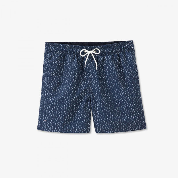 Image Eden Park Swimming shorts - Navy blue swimming trunks with palm tree micro-pattern