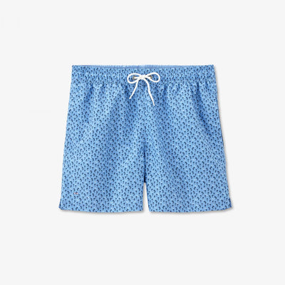 Image Eden Park Swimming shorts - Blue swimming trunks with palm tree micro-pattern