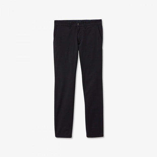 Navy blue stretch cotton chino trousers