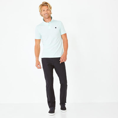 Image Eden Park Trousers & shorts - Navy blue stretch cotton chino trousers