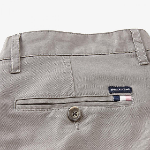 Grey stretch cotton chino trousers