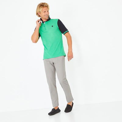 Image Eden Park Trousers & shorts - Grey stretch cotton chino trousers