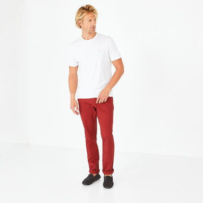 Image Eden Park Trousers & shorts - Burgundy stretch cotton chino trousers