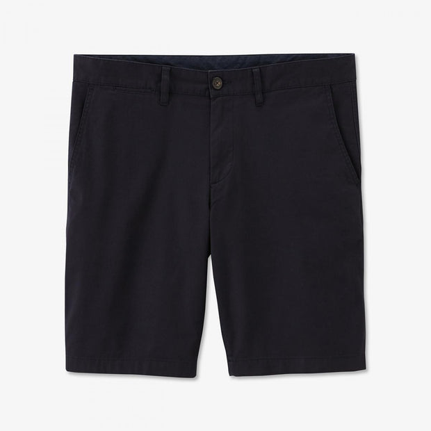 Navy blue stretch cotton chino-style bermudas
