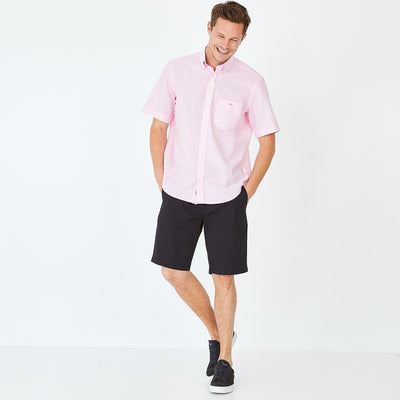 Image Eden Park Trousers & shorts - Navy blue stretch cotton chino-style bermudas