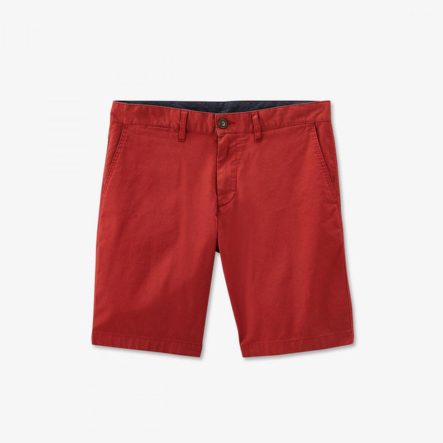 Burgundy stretch cotton chino-style bermudas