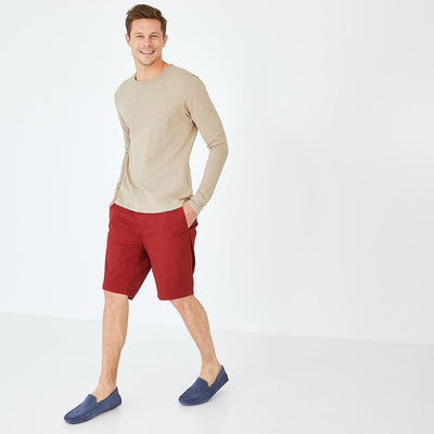 Image Eden Park Trousers & shorts - Burgundy stretch cotton chino-style bermudas