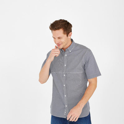 Image Eden Park Shirts - Cotton short-sleeved shirt with gingham check