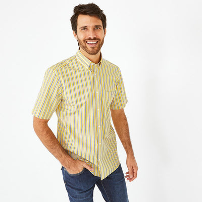 Eden Park Clothing Shirts image Cotton poplin striped short-sleeved shirt