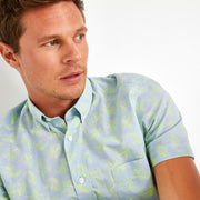 Slim fit Fluo shirt with chambray print