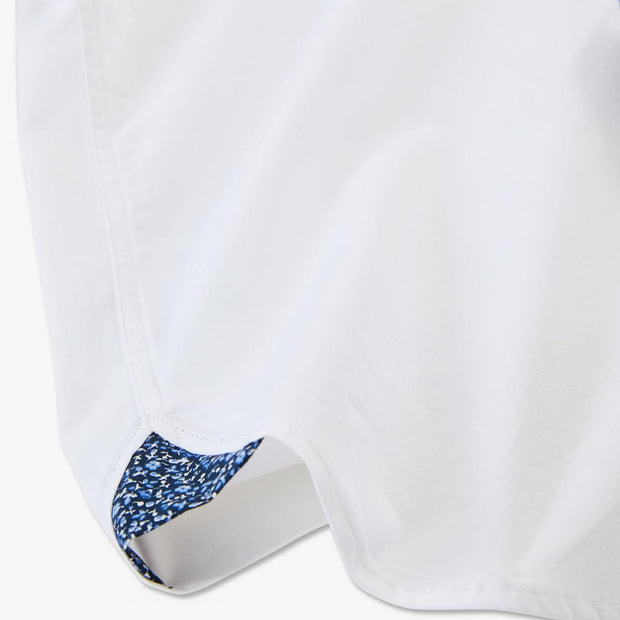 Unicolour white cotton shirt with elbow patches
