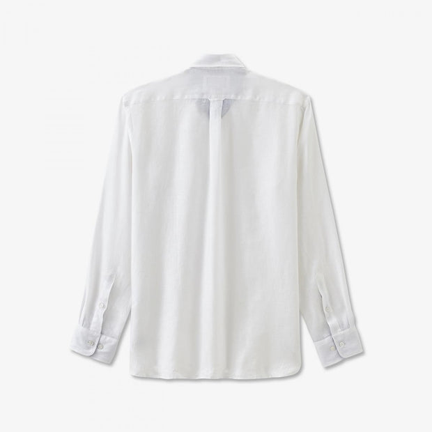 Unicolour white linen shirt