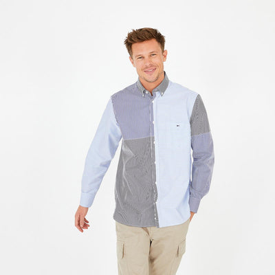 Striped blue poplin Barbarian shirt