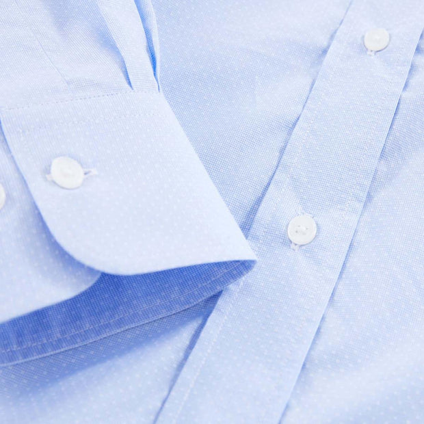 Cotton poplin Ville shirt with jacquard pattern