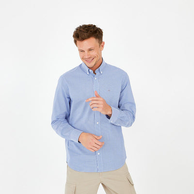 Blue check poplin Ville shirt