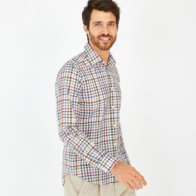 Eden Park Clothing Shirts image Slim fit coloured check cotton shirt