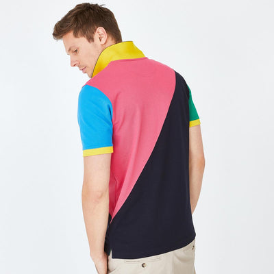 Colour-block Pima cotton piqué Eden 80's polo