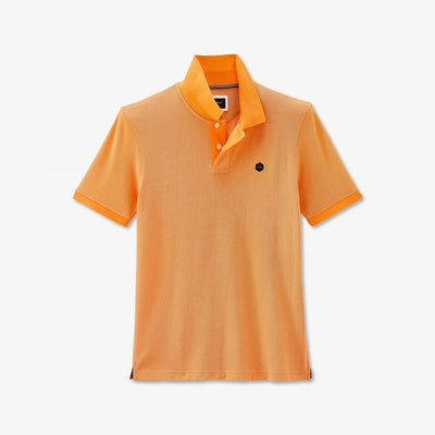 Apricot Pima cotton Hexa polo