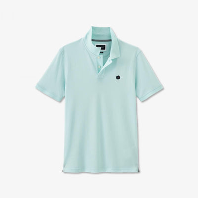 Mint green Pima cotton Hexa polo