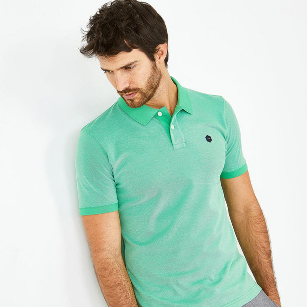 Green Pima cotton Hexa polo