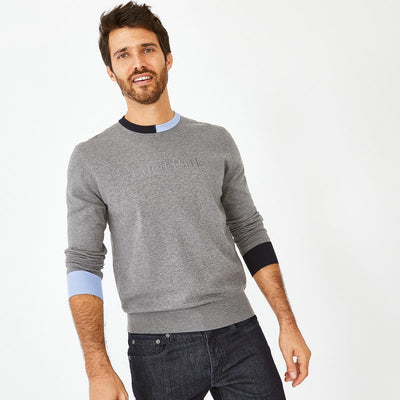 Eden Park Clothing image Cotton jumper with contrasting accents