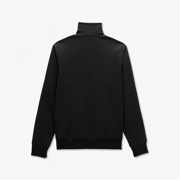 Black cotton knit sweatshirt with bands