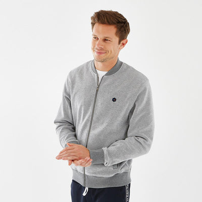 Slim fit grey fleece Hexa teddy jacket