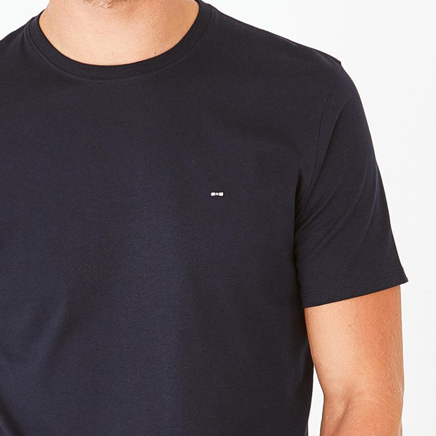 Navy blue Pima cotton T-shirt with crew neck