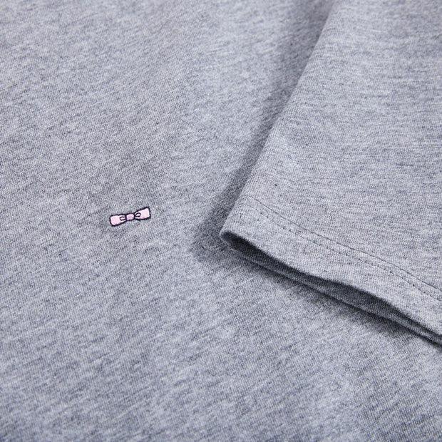 Pima cotton heather grey T-shirt with crew neck