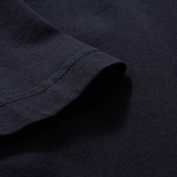 Embroidered navy blue cotton New Generic T-shirt