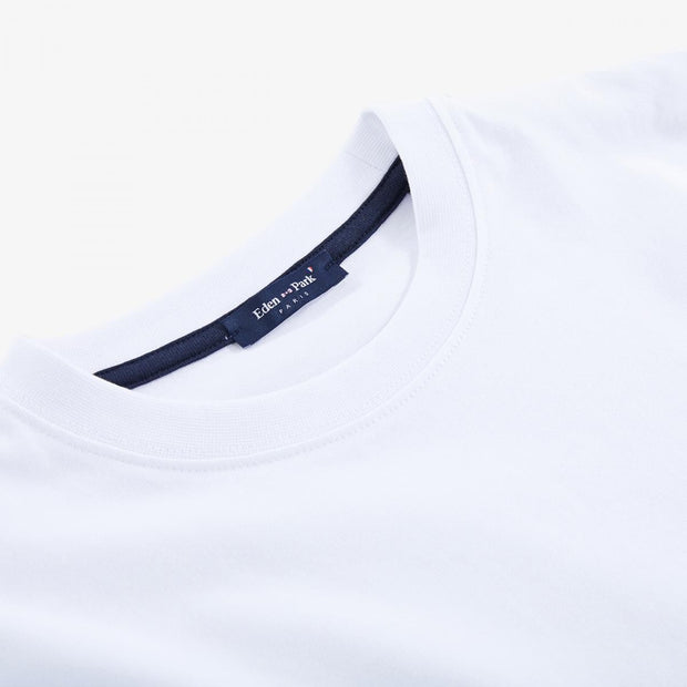 White cotton T-shirt with print lettering