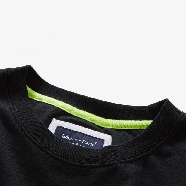 Print black cotton Fluo T-shirt