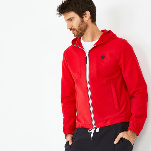 Lightweight nylon hooded zip Zack windcheater