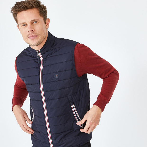 Navy blue water-resistant Yan quilted gilet