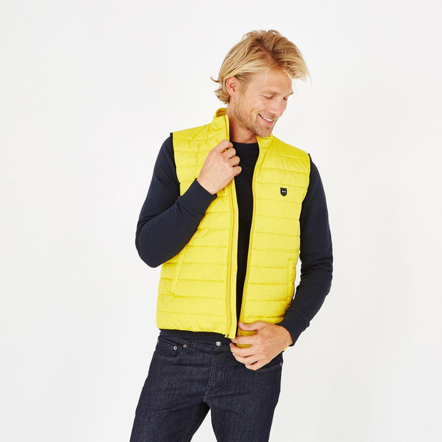 Yellow water-resistant Yohan quilted gilet