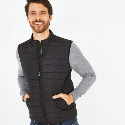 Black water-resistant Yohan quilted gilet