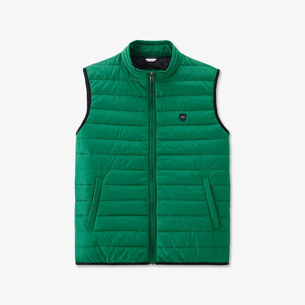Green water-resistant Yohan quilted gilet