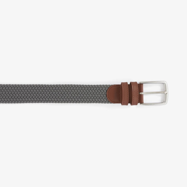 Adjustable grey braided belt