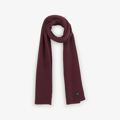 Burgundy ribbed cotton scarf